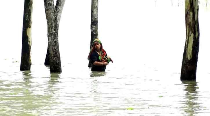 ডায়রিয়াসহ পানিবাহিত রোগে আক্রান্ত হচ্ছেন বন্যার্তরা
