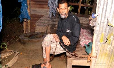 ১০ বছর শিকলবন্দি আমিরকে উদ্ধার করলো ইউএনও