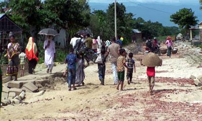 সুনামগঞ্জে পাহাড়ি ঢলে বিধ্বস্ত যোগাযোগ ব্যবস্থা