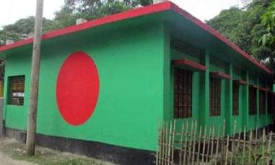 জয়পুরহাটে লাল-সবুজে সাজানো হলো ৩০ বিদ্যালয়