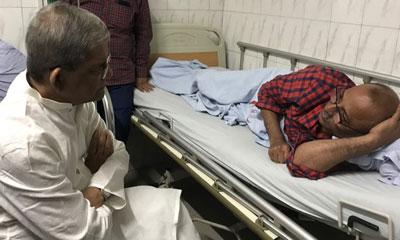 শায়রুলকে দেখতে হাসপাতালে মির্জা ফখরুল
