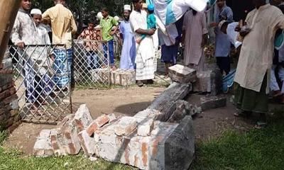 ঈদগাহের গেইট ভেঙে মুসল্লির মৃত্যু