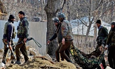 কাশ্মীরে ভারতীয় সেনাদের সন্ত্রাসবিরোধী অভিযানে নিহত ৩