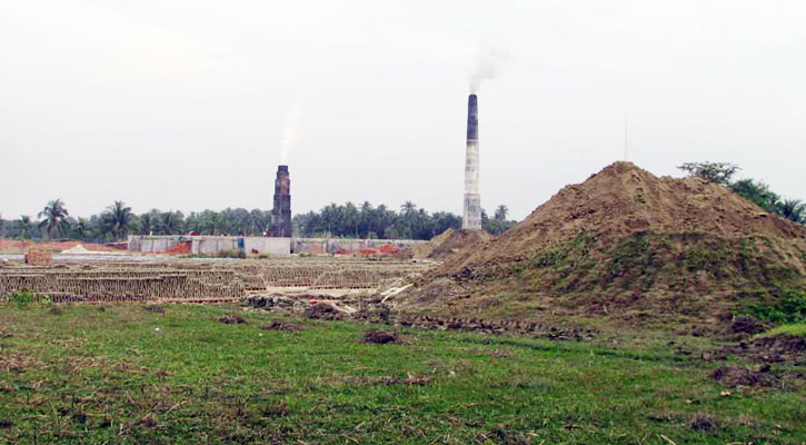 পুঠিয়া পৌর সদরে দুই ইটভাটা, বিপর্যস্ত পরিবেশ