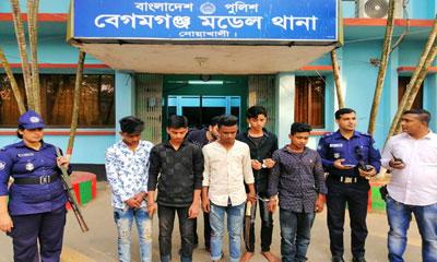 নোয়াখালীতে কিশোর গ্যাংয়ের ৫ সদস্য আটক