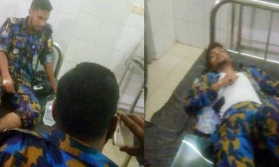 রাজধানীতে পিকআপভ্যান উল্টে ১৩ পুলিশ আহত
