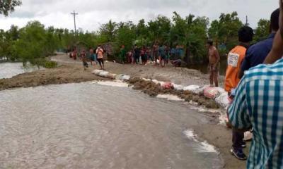 সুন্দরবনসংলগ্ন নদীগুলোতে ৪ ফুট পর্যন্ত পানি বৃদ্ধি